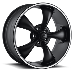 Ridler Wheels 695 5 Black with Machined Trim