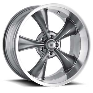 Ridler Wheels 695 5 Gunmetal with Machine Lip