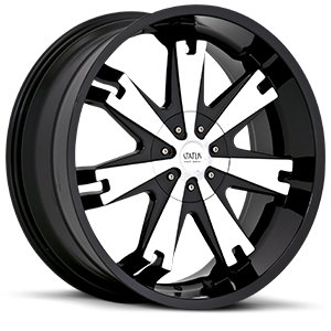 Status Wheels S806 Soldier 4 Black w/ Machined Face