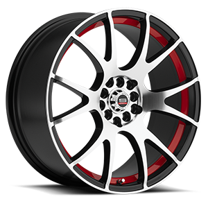 Spec-1 SP-2 5 Gloss Black Machined Red Line