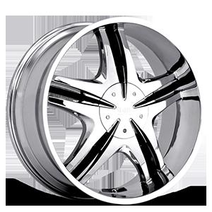 Status Wheels S222 Vice 5 Chrome w/Black v-inserts