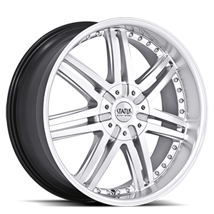 Status Wheels S805 Game 5 Hyper Silver w/ Machined Face