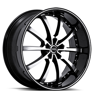 Status Wheels S826 Knight 10 5 Gloss Black w/ Machined Face and Pin Stripe