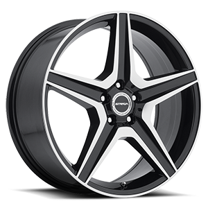 Strada Wheels Cinque 5 Gloss Black Machined