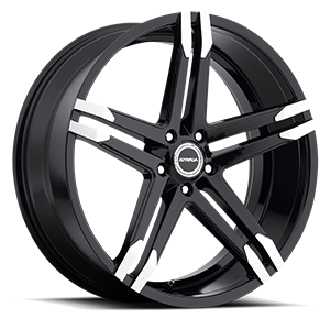 Strada Wheels Domani 5 Gloss Black Machined Tips