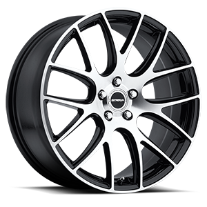 Strada Wheels Fuso 5 Black Machined