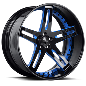 Savini Forged SV1-C 5 Black with Blue Trim