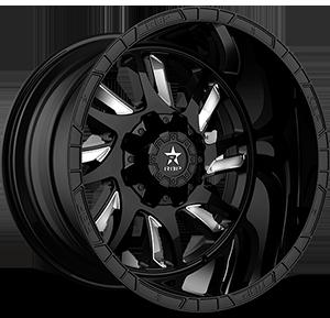 RBP Wheels 69R SWAT 8 Black w/ Chrome Inserts