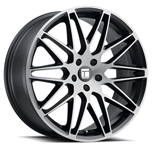 Touren Wheels TR75 5 Brushed Black Dark Tint