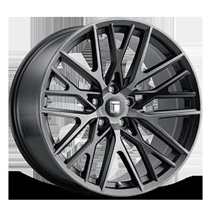 Touren Wheels TR91 5 Brushed Matte Black w/ Dark Tint