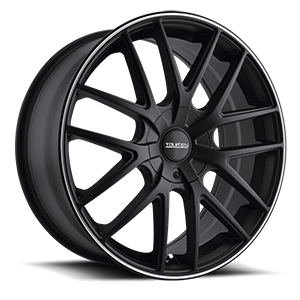 Touren Wheels TR60 4 Black w/ Machined Lip