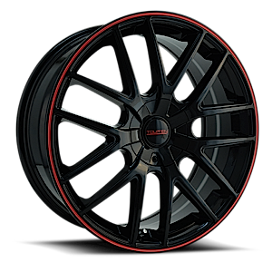 Touren Wheels TR60 4 Black w/ Red Trim