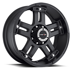 Vision Off Road 394 Warlord 8 Matte Black with Chrome Bolts