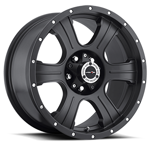 Vision Off Road 396 Assassin 5 Matte Black with Chrome Rivets