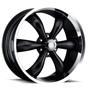 Vision Wheel 142 Legend 6 6 Gloss Black with Machine Lip