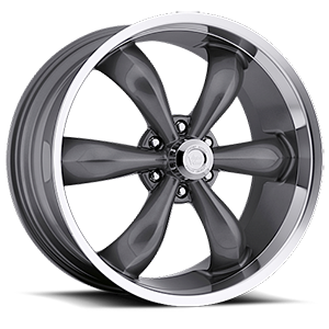 Vision Wheel 142 Legend 6 6 Gunmetal with Machine Lip
