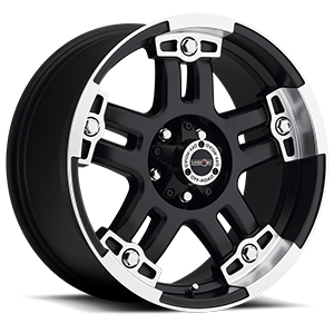 Vision Off Road 394 Warlord 5 Matte Black with Machine Face