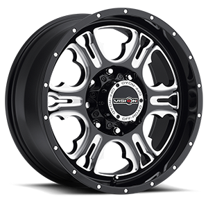 Vision Off Road 397 Rage 8 Gloss Black with Milled Spoke