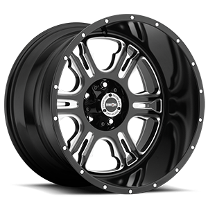 Vision Off Road 397 Rage 5 Gloss Black with Milled Spokes - 20x12