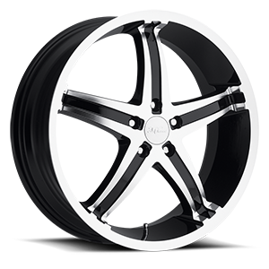 Milanni Wheels 446 Kool Whip 5 5 Gloss Black Machined Face