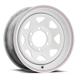 Vision HD Truck/Trailer 70 8 Spoke 6 White with Pinstripe