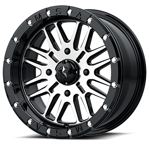 M37 Brute Beadlock Gloss Black Machined 4 lug