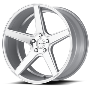 KMC Wheels KM685 District 5 Silver Machined