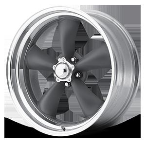 American Racing Custom Wheels VN215 Classic Torq Thrust II 1-Piece 5 Mag Gray w/ Machined Lip