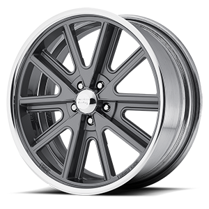 American Racing Custom Wheels VN407 Shelby Cobra SL 5 Two-Piece Mag Gray Center Polished Barrel