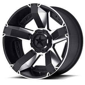 XD Series by KMC XD811 RS2 8 Matte Black Machined w/ Accents