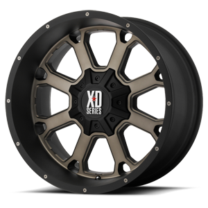 XD Series by KMC XD825 Buck 25 8 Matte Black Machined Face