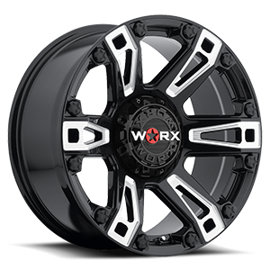 WORX Wheels 803 Beast Truck 5 Gloss Black with Milled Accents