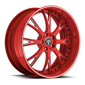 DUB Forged Formula - X12 5 Red & Milled, White Lip Stripe