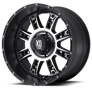 XD Series by KMC XD809 Riot 5 Matte Black Machined