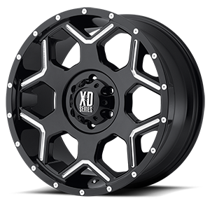 XD Series by KMC XD812 Crux 6 Gloss Black Milled