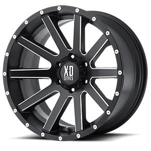 XD Series by KMC XD818 Heist 6 Satin Black Milled