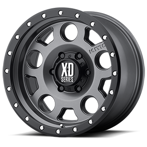 XD126 Enduro Pro Matte Gray w/ Black Ring 6 lug