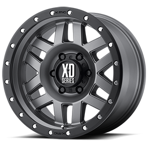 XD128 Machete Matte Gray w/ Black Ring 6 lug
