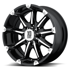 XD Series by KMC XD779 Badlands 8 Gloss Black Machined