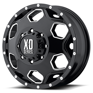 XD Series by KMC XD815 Battalion 8 Gloss Black w/ Milled Accents