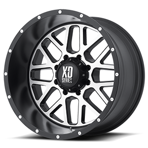 XD Series by KMC XD820 Grenade 8 Satin Black w/ Machined Face