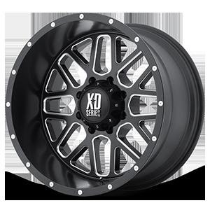 XD Series by KMC XD820 Grenade 8 Satin Black w/ Milling