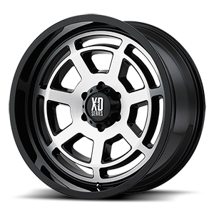 XD Series by KMC XD824 Bones 6 Gloss Black Machined