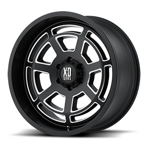 XD Series by KMC XD824 Bones 6 Satin Black Milled
