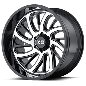 XD Series by KMC XD826 Surge 6 Gloss Black Machined