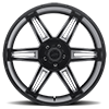 5 LUG AR890 SATIN BLACK MACHINED