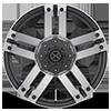 5 LUG AX190 DUNE SATIN BLACK W/ MACHINED FACE