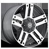 6 LUG AX190 DUNE SATIN BLACK W/ MACHINED FACE