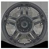 6 LUG AX181 ARTILLERY CAST IRON BLACK
