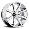 6 LUG KM651 SLIDE CHROME